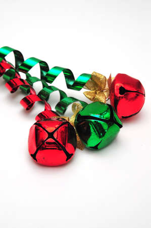 Jingle bells on a white background Stock Photo