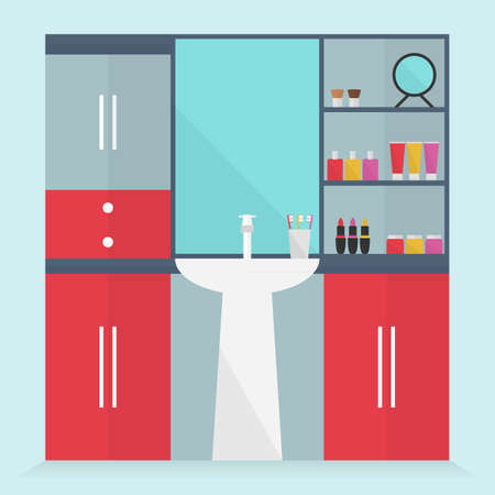 neatness: Bathroom for women