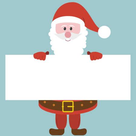 Santa holding paper Vector