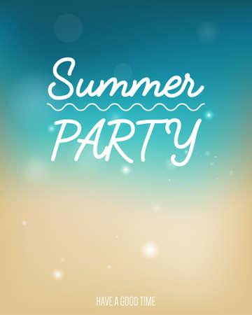 sensation: Summer party poster Illustration