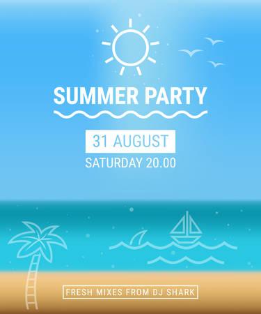 Summer party poster Illustration
