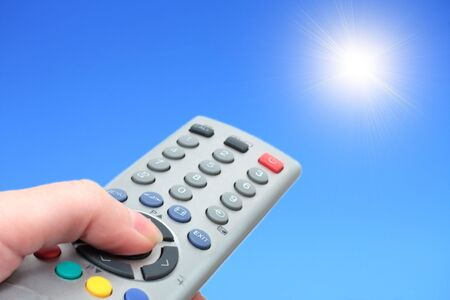 include: include the sun from the control panel Stock Photo