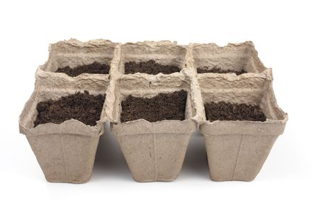 turba: macetas de turba para las plantas de semillero a la tierra