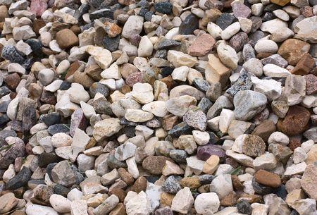 macadam: background of stone macadam of different colors Stock Photo