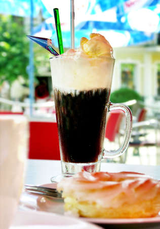 icecoffee and sweet Stock Photo - 2679177