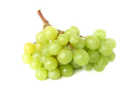 Isolated yellow grape cluster on white background Stock Photo - 2701589