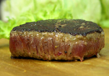 beefsteak: grilled beefsteak with salad
