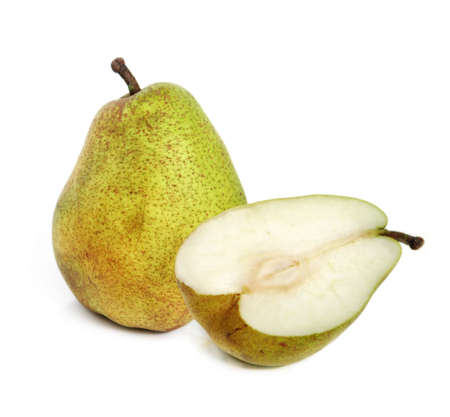 The ripe juicy pear with white background Stock Photo - 2701630