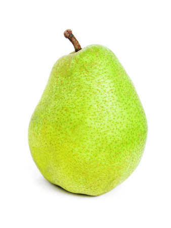 The ripe juicy pear with white background Stock Photo - 2702392