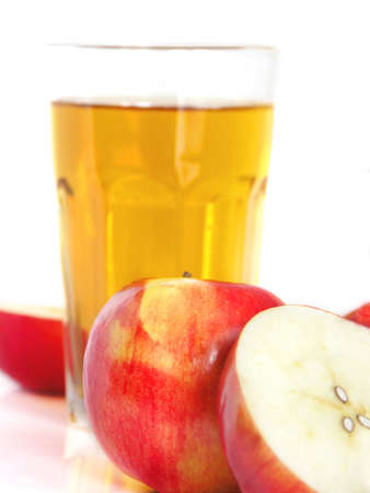 Red apple with juice Stock Photo - 2701475
