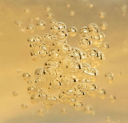 Clean yellow bubblys from champagne Stock Photo - 3029949