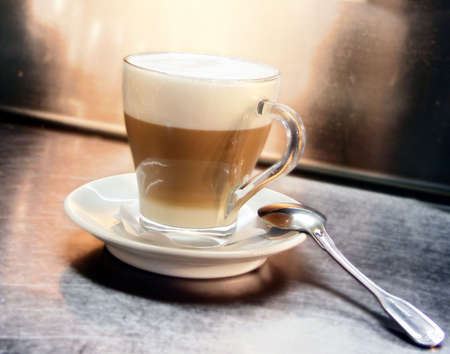 Cafe Coffee Latte in a glass Stock Photo - 3078422