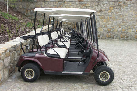 Golf carts in ones series photo