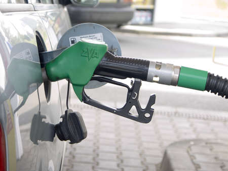 refilling the car with a gas pump Stock Photo - 3215919