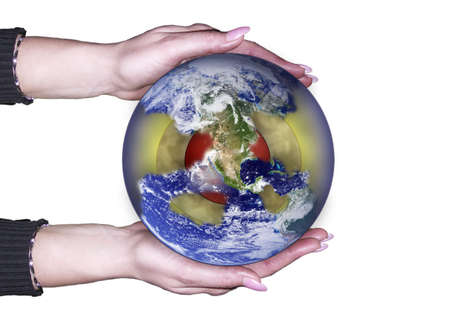 Planet is in our hands . . . Stock Photo - 3369167