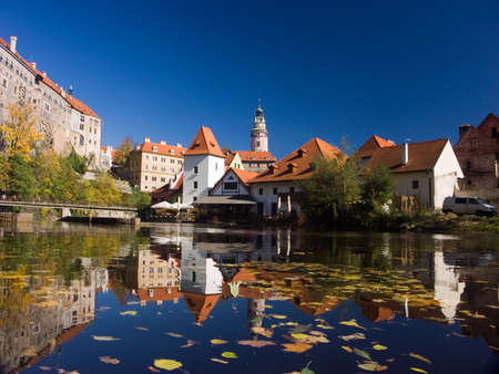 Czech Republic - autumn in Cesky Krumlov . This is an UNESCO World Heritage site Stock Photo