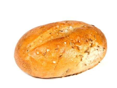 aliments: Boulangerie des denr�es alimentaires sur fond blanc - Tourn� dans un studio Banque d'images