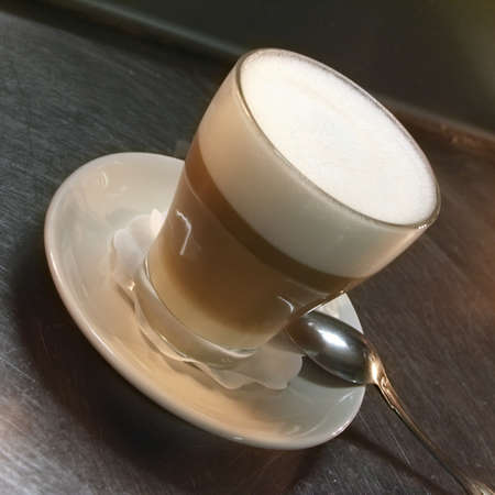 Cafe Coffee Latte in a glass Stock Photo - 4016379