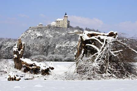 republik: Czech Republik - stronghold Kuneticka mountain in winte Stock Photo