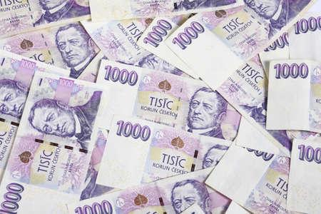 Czech money for white background
