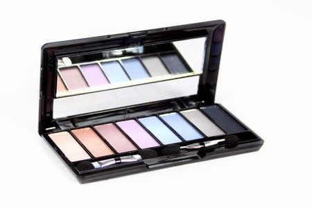 make-up - eyeshadow on white background photo