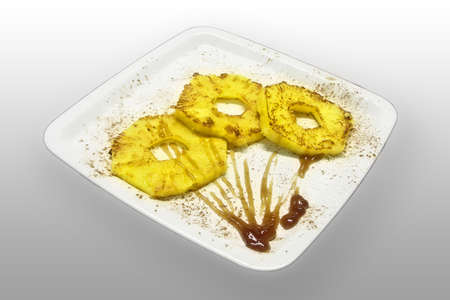 grilled pineapple with maple topping Stock Photo - 4815666