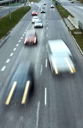 Highway with lots of cars. High contrast and motion blur to rise speed. Stock Photo - 6052583