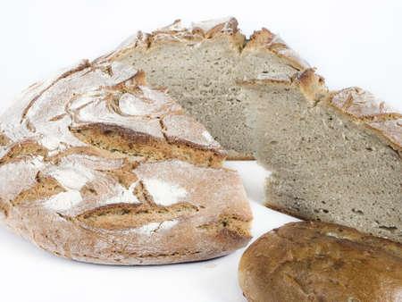 viveres: Los alimentos de panader�a sobre fondo blanco - Shot en un estudio