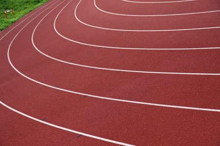 start of race: pista de atletismo  Foto de archivo