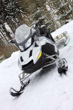 modern silver scooter on snow Stock Photo - 8239959