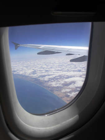 boeing: Boeing 737-400 - look from windows Stock Photo