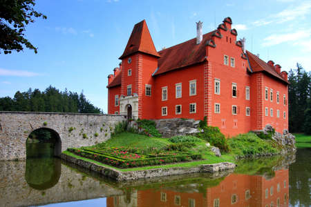 Czech Republic - noted red castle Cervena lhota Stock Photo