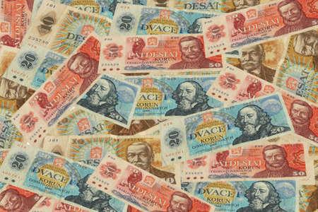 Czech old money on white background Stock Photo - 9043751
