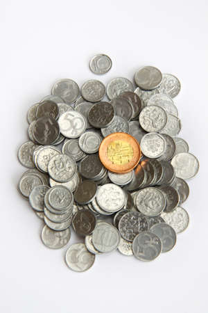 Czech old money on white background Stock Photo - 9297422