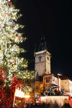 Czech republic - metropolises Prague - Staromestske square with christmas tree Reklamní fotografie