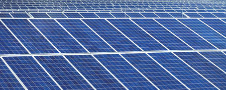 Solar panels in nature- ecology energy photo