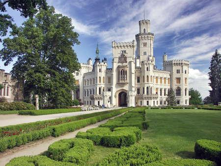 Czech Republic - white castle Hluboka nad Vltavou photo