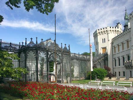 Czech Republic - white castle Hluboka nad Vltavou