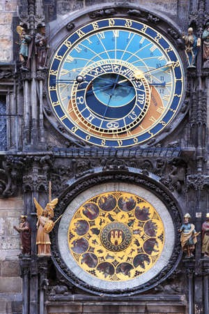 Prague � old astronomical horoscope clock photo