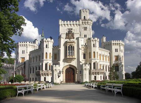 nad': Czech Republic - white castle Hluboka nad Vltavou