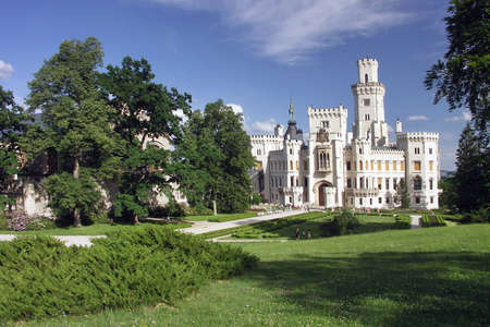 Czech Republic - white castle Hluboka nad Vltavou
