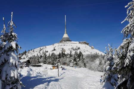 Czech Republic - Liberec - transmitter Jested in winter