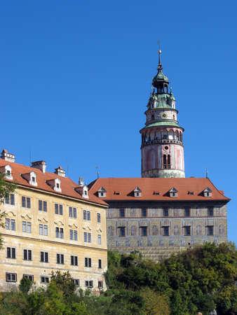 Czech Republic - UNESCO, Czech Krumlov (Cesky Krumlov) - tower on castle