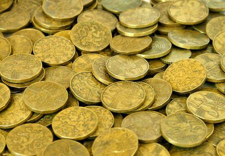 korun: Czech money 20 Korun on background Stock Photo