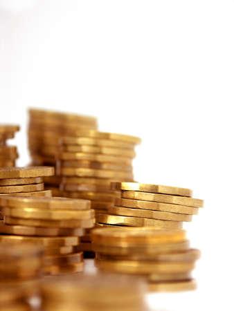 Czech money 20 Korun on white background photo