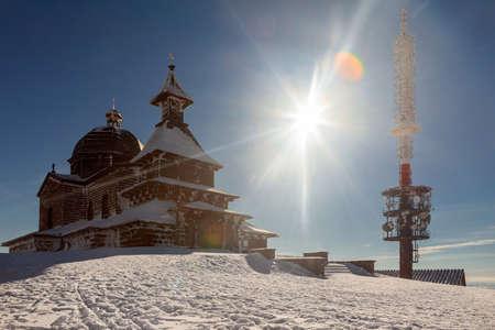 A snow covered landscape Czech Republic - Pustevny, Beskydy. High quality photo