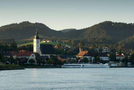 Sunset on the Danube, Austria