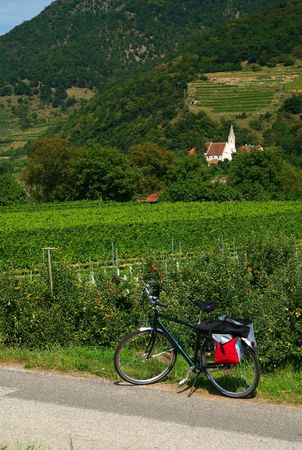 Danube Cycle Trail, Austria Stock Photo