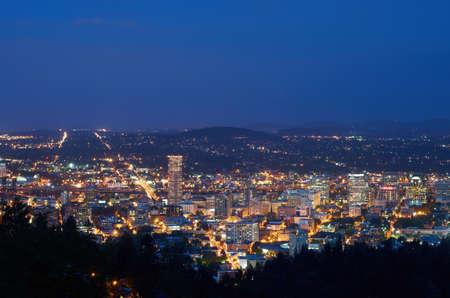 Night photography of Portland, Oregon