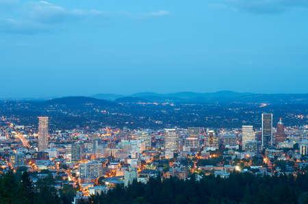 Portland, Oregon at twilight